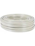kabel wit 3x1,5 mm 100 mtr
